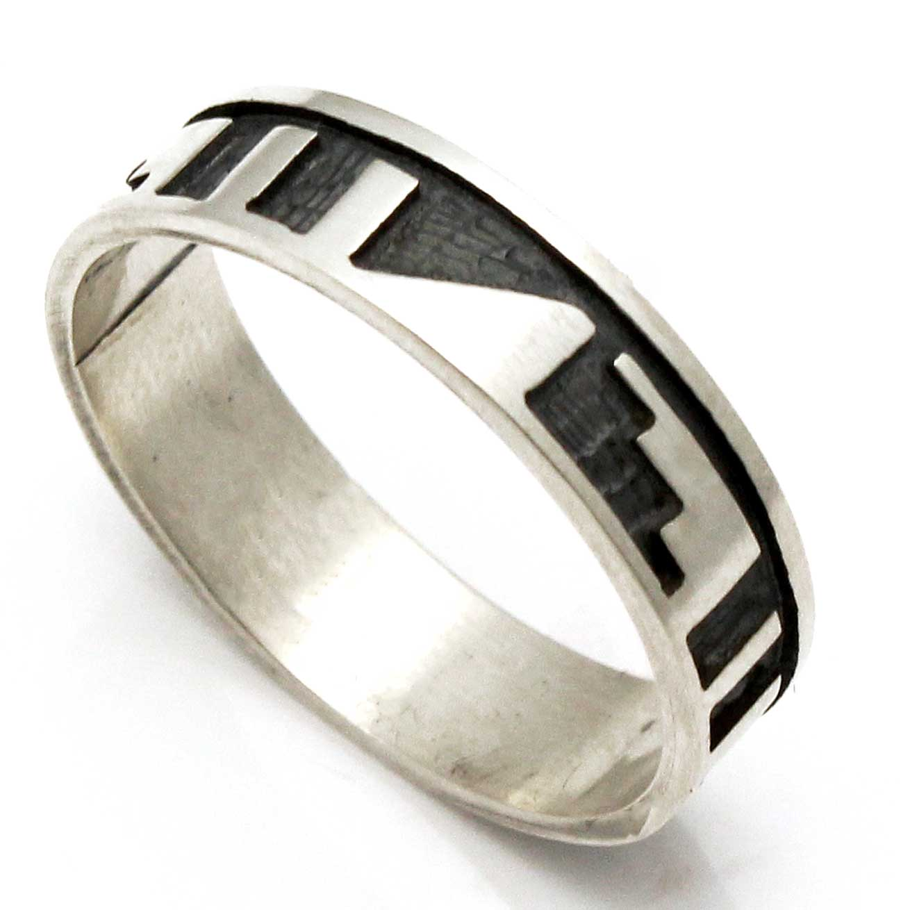 hopi silver ring clouds water indian traders