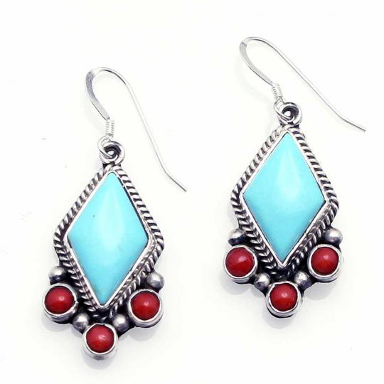 Navajo Turquoise C Earrings