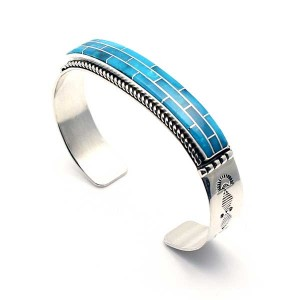 Zuni Turquoise Channel Inlay bracelet