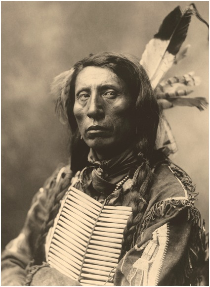 Warrior Wearing Two Eagle Feathers